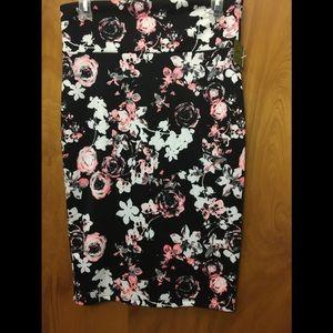 Midi Flower Print Skirt by Ultra Flirt